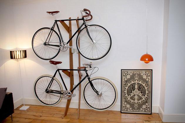 The Branchline, la rastrelliera in bambù per due biciclette