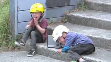 4 year old BMX twins