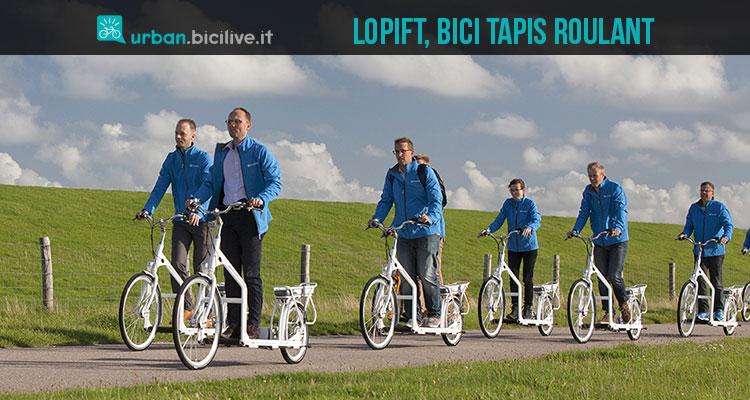 Lopifit bike, la bici con tapis roulant che cammina