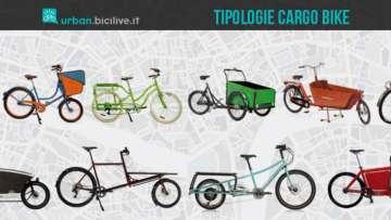 Le cargo bike sono biciclette per il trasporto merci con tanto spazio
