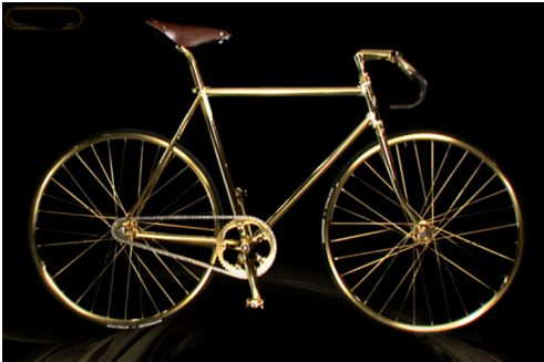 bici di lusso Aurumania crystal Edition Gold Bike