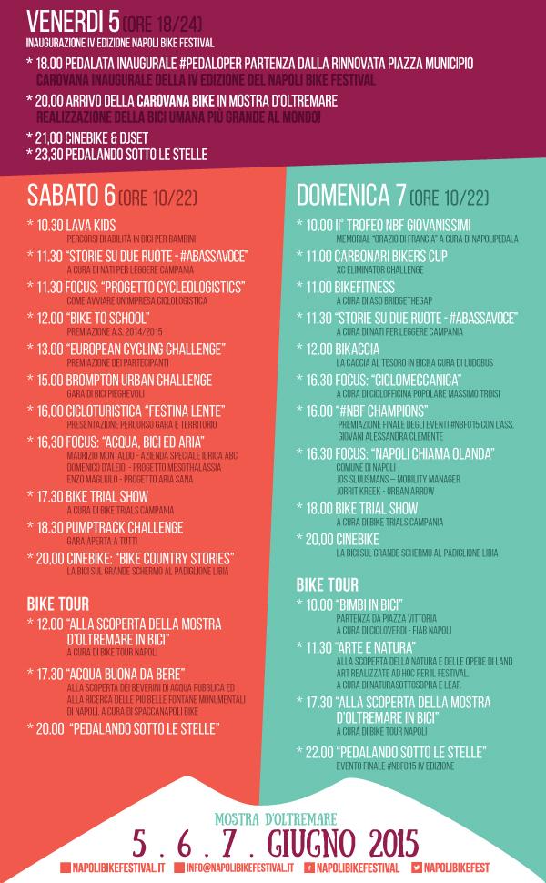 Programma del Napoli Bike Festival