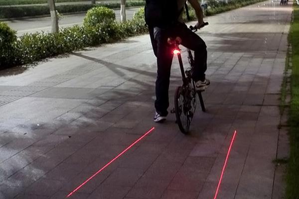 La luce proiettata dal Laser Rear
