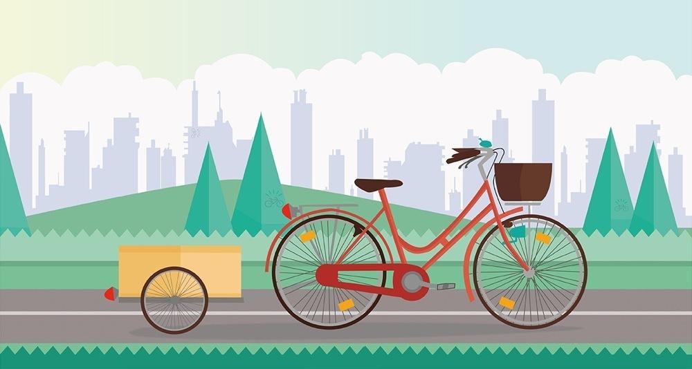 Un classico carrello da bici