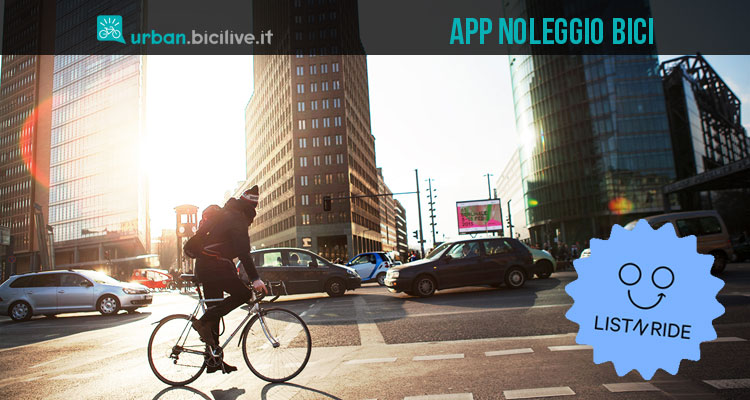 Immagine promozionale per l'app list-n-ride per l'affitto e il noleggio delle biciclette