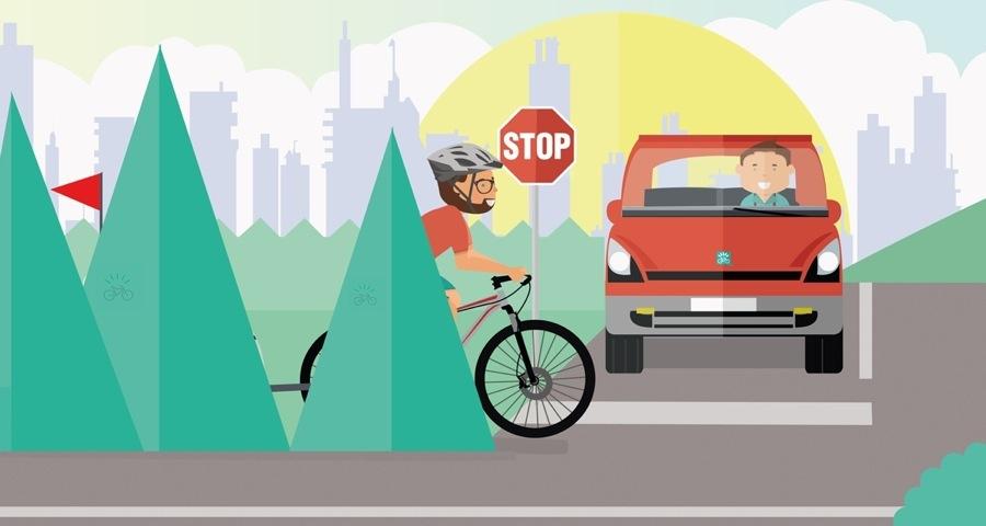 Carrello bici porta bambino: la bandierina è indispensabile per essere visti dalle auto