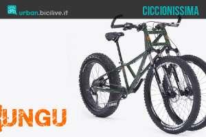 La fat bike a tre ruote Kilimanjaro creata dalla Rungu