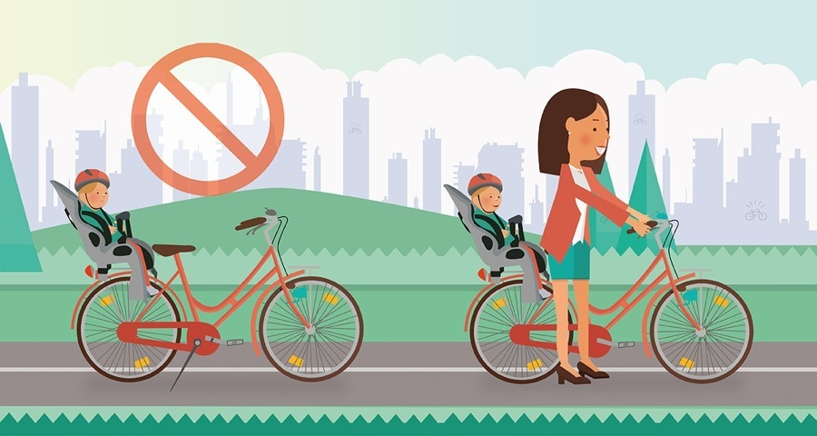 Seggiolino bici: mai lasciare il vostro bambino sulla bici da solo