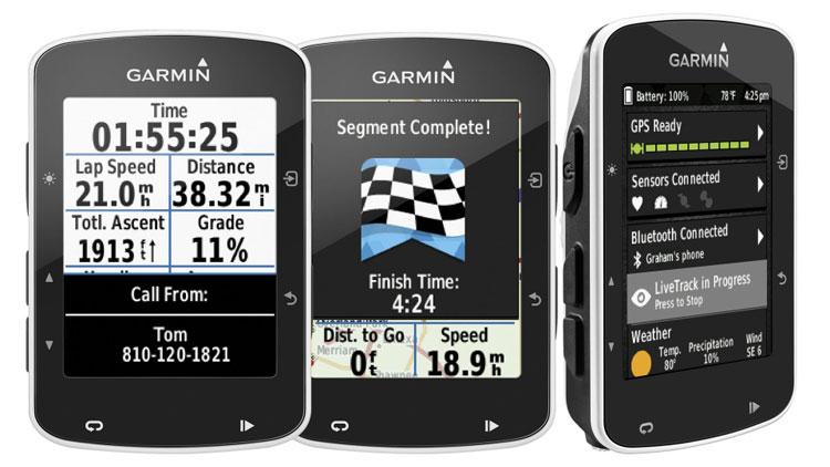 Una foto del navigatore satellitare per biciclette Garmin Edge 520