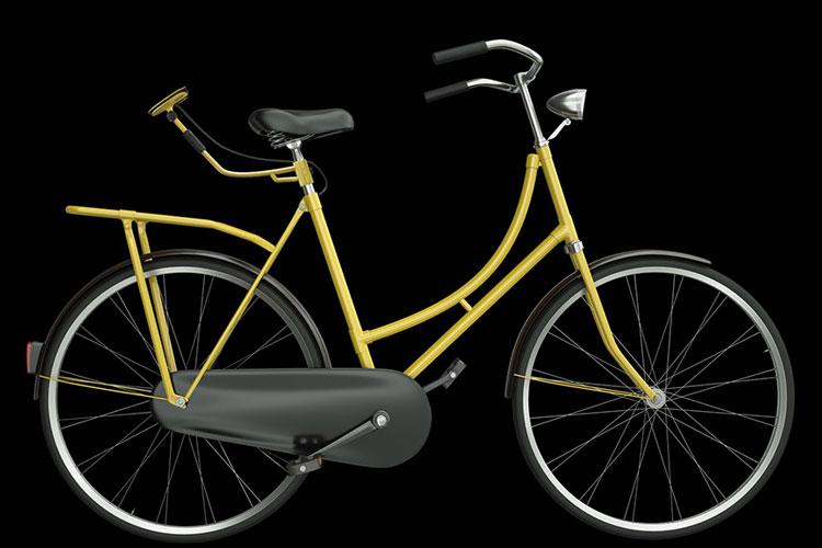 Una foto del Cyclee montato sul sellino di una bicicletta
