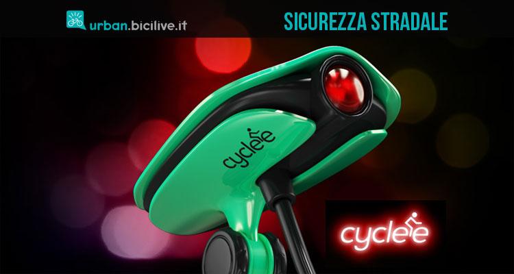 Una foto di Cyclee, lo strumento che aumenta la sicurezza sulle strade per il ciclista