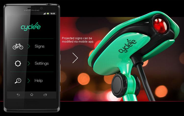 Una foto della app per smartphone per configurare e controllare Cyclee