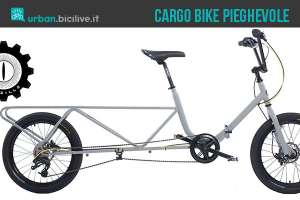 La foto promozionale per la cargo bike pieghevole Fabrica Grazilla Bus
