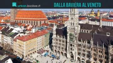 Monaco di Baviera, una delle due estremità della Ciclovia dell'Amicizia