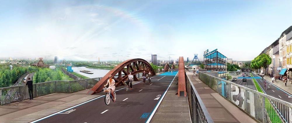 foto dell'autostrada per bici inaugurata a dicembre in germania