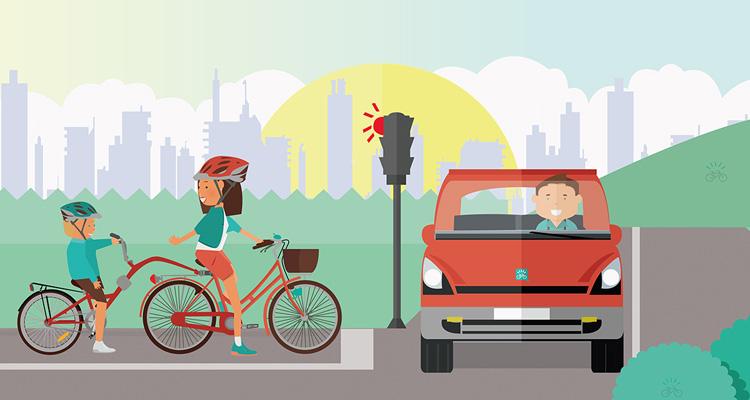 trasportare-bimbi-bici-cammellino-appendice-semaforo