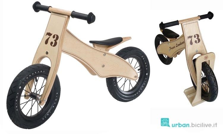 Balance bike in legno del brand Prince Lionheart