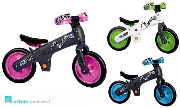 Bici senza pedali Bellelli in tre varianti colore