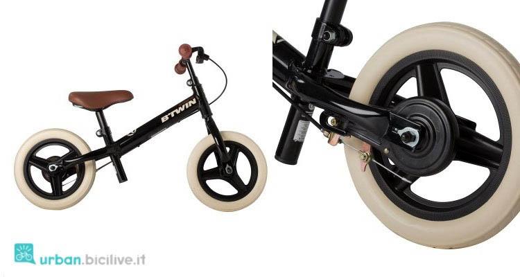 Bici senza pedali del marchio B'Twin di Decathlon.
