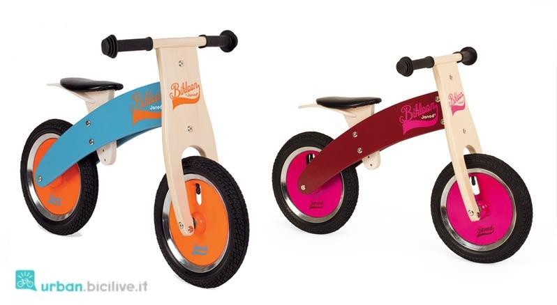Le bici senza pedali di legno del marchio Janod