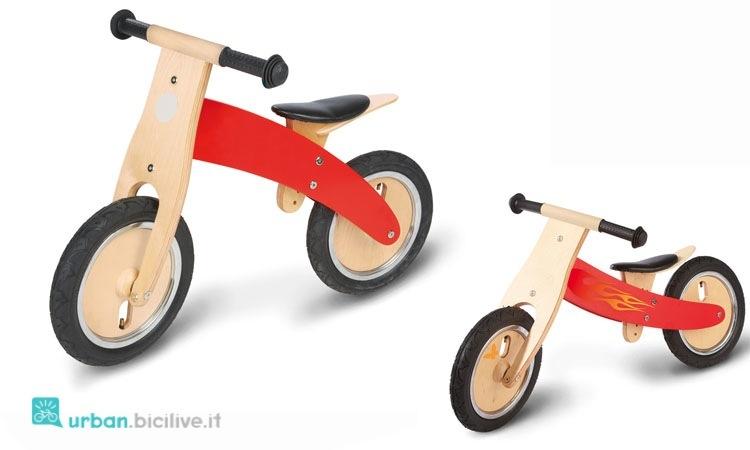 Bici senza pedali in legno del brand Pinolino