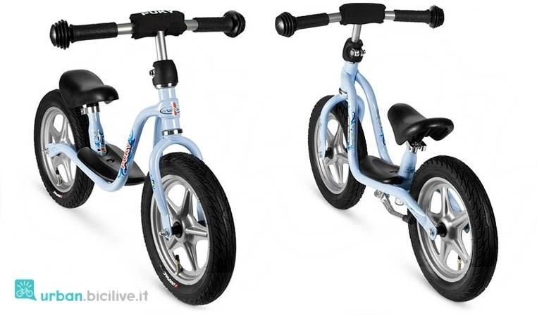 Push bike del brand Puky, con poggiapiedi