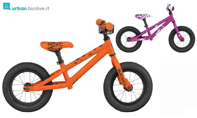 La bici senza pedali di Scott, una blance bike che chiamano a catalogo Walker bike
