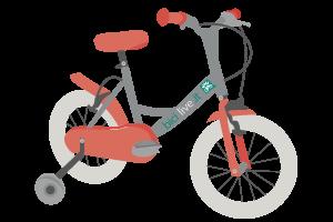 bicicletta con le rotelle