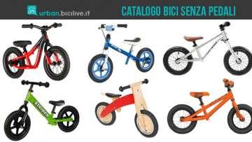Immagine di copertina pell'articolo Catalogo e prezzo bici senza pedali