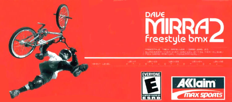 La grafica del video gioco Dave Mirra Freestyle BMX 2