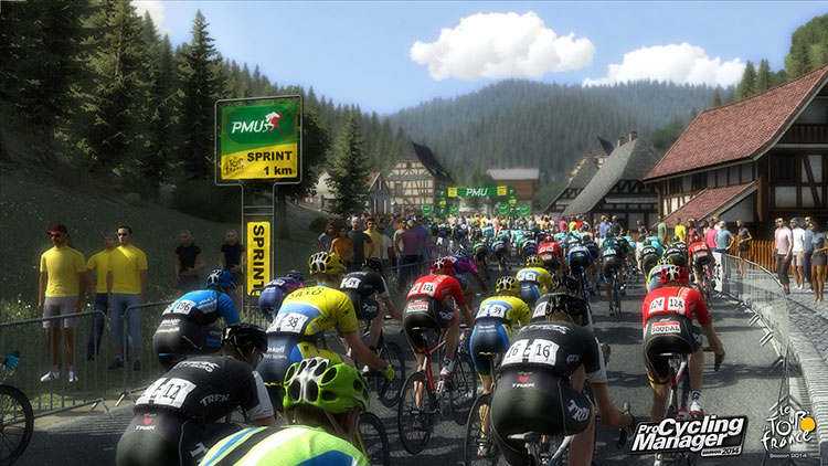 Una schermata del video gioco sul ciclismo Pro Cycling Manager 2014