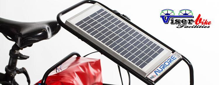 Pannello Solare Per Ebike : Aurore caricabatteria portatile a energia solare per ciclisti