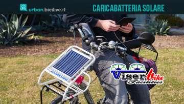 Aurore, ricarica batterie solare portatile per ciclisti