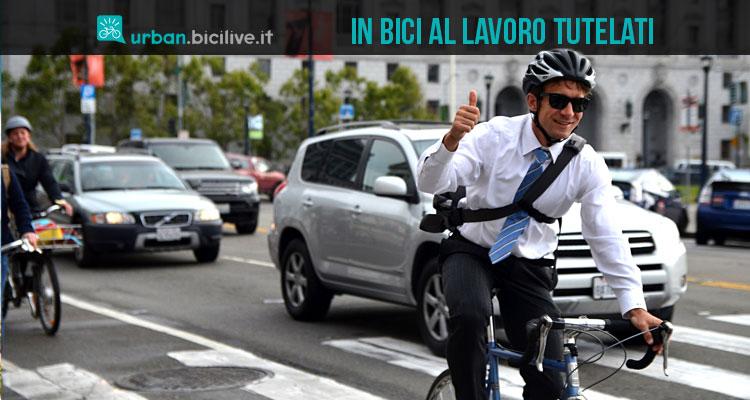 ciclisti assicurati al lavoro