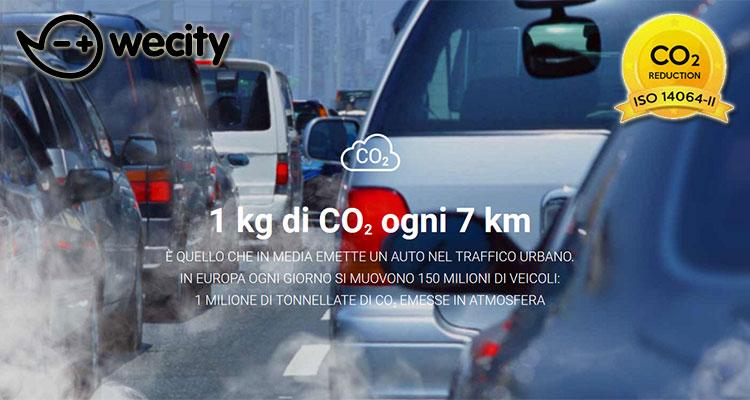 Un'automobile produce un chilogrammo di anidride carbonica ogni 7 chilometri