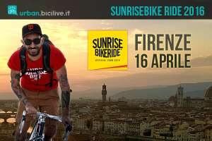 la prima tappa della Sunrisebike Ride sarà il 16 aprile a Firenze