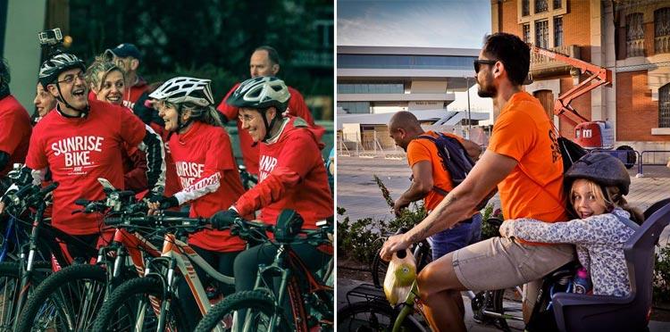 L'evento SunRiseBike Ride è rivolto a tutti gli amanti della bicicletta
