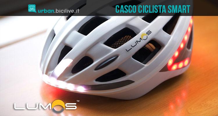 Lumos, il casco per ciclisti intelligente che mette la freccia