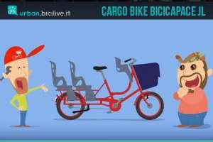 La bicicletta cargo Bicicapace JL per famiglie numerose e trasporto merci