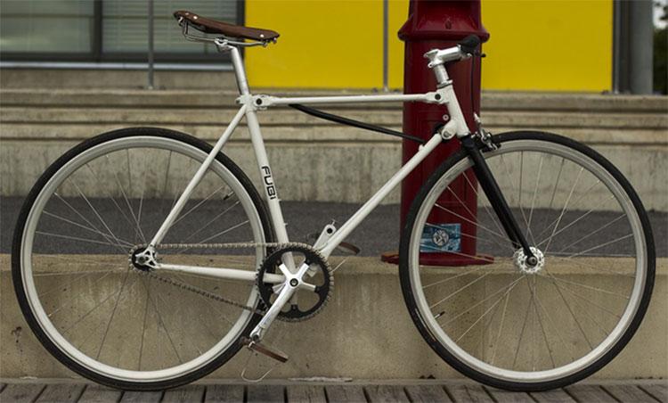 La bicicletta pieghevole a scatto fisso Fubi Fixie per la città