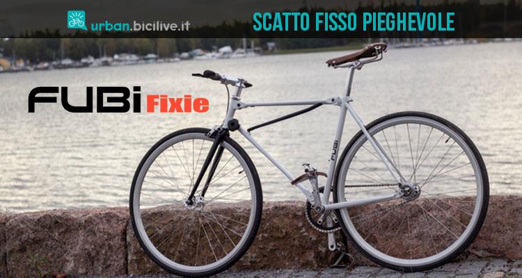 La bicicletta scandinava pieghevole a scatto fisso Fubi Fixie
