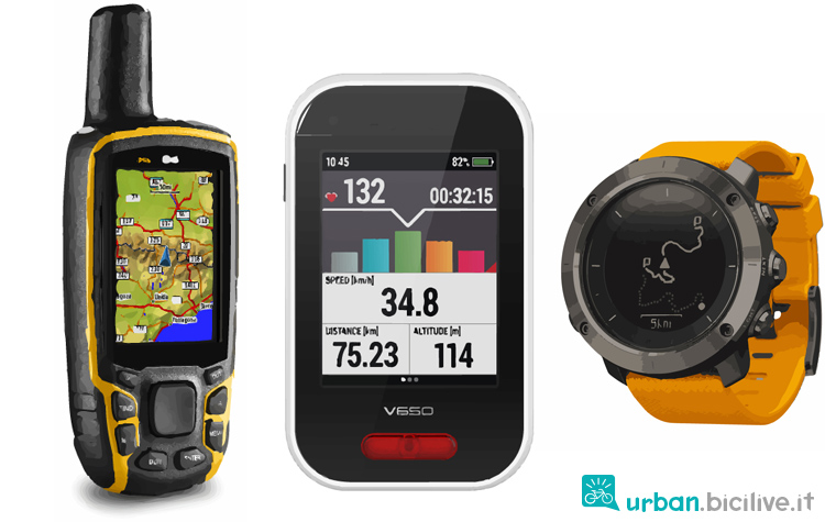 tre ricevitori GPS sportivi a confronto