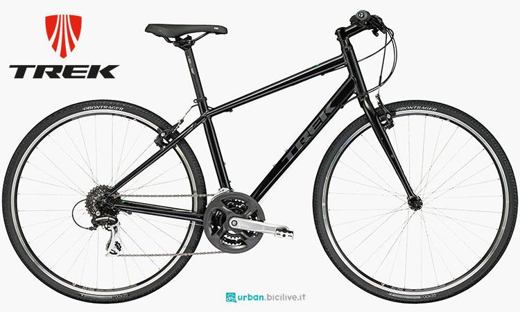 Una bicicletta urbana Trek FX 2 da donna