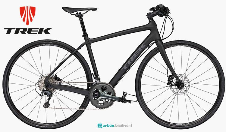 Una bici urbana Trek FX Sport 5 da donna