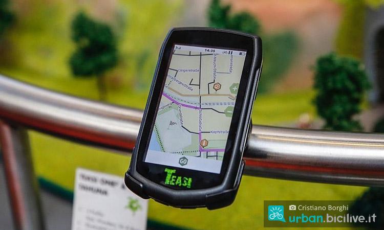 Ciclocomputer con GPS Teasi alla fiera della bicicletta Eurobike 2016