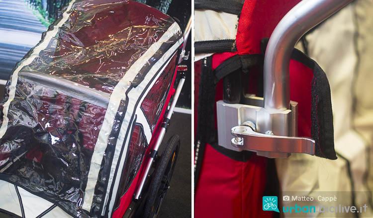 Dettagli del carrello bici bambino di Bellelli B-Travel
