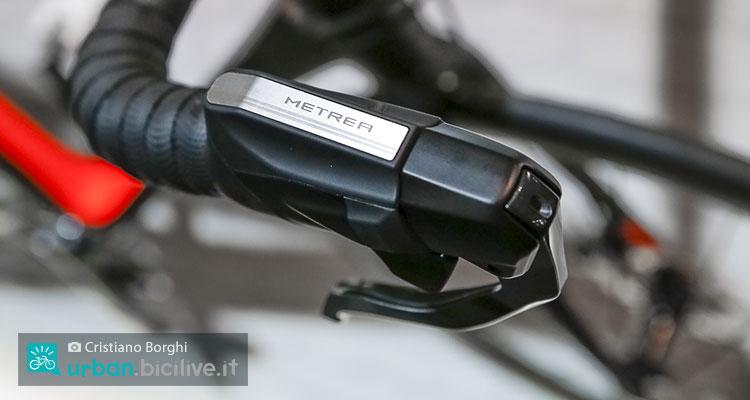 Il comando del gruppo Shimano Metrea montato su una concept bike di Cube