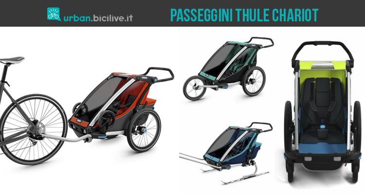 passeggini a rimorchio per il trasporto bimbi Thule Chariot