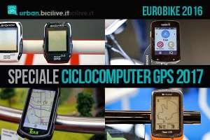 Speciale ciclocomputer con GPS confrontati durante eurobike 2016