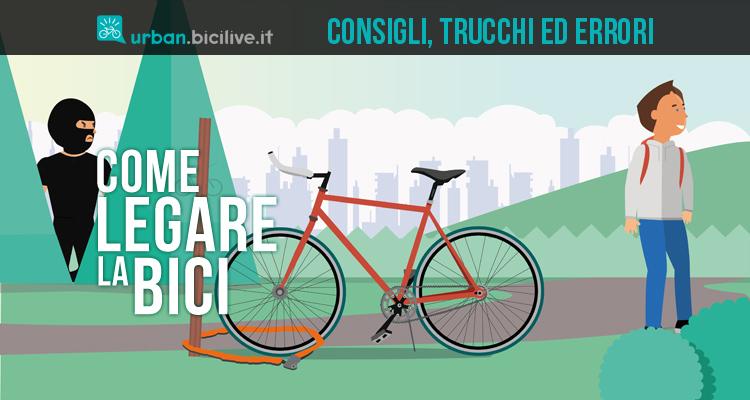 consigli trucchi ed errori nel legare la bicicletta
